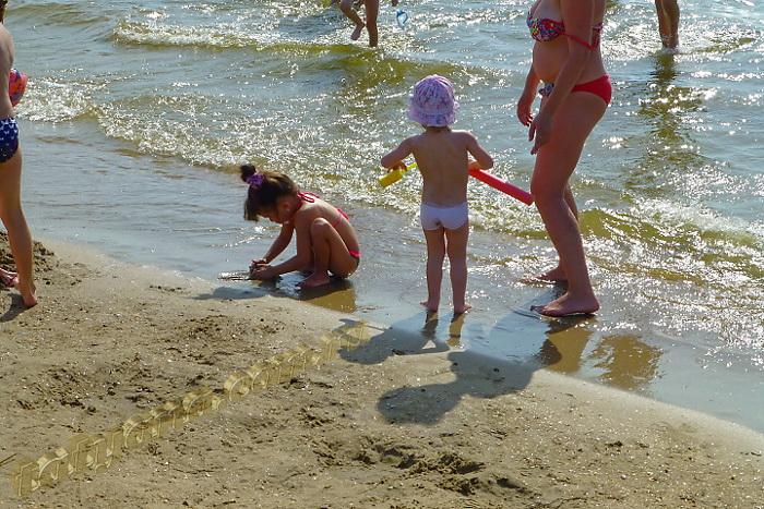 Анапа центральный пляж море, дети