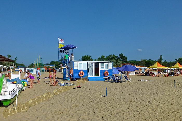 Анапа центральный пляж июнь спасательный пост
