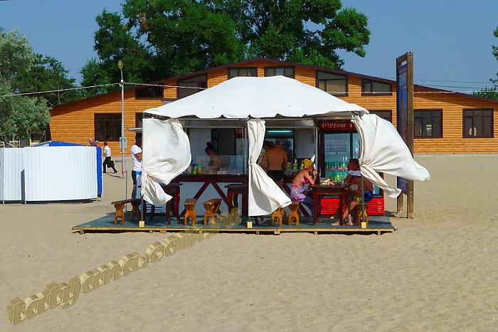 Анапа центральный пляж июнь летнее кафе